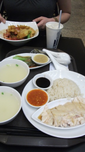 Hainanese Chicken Rice, hawker style, Singapore 2011