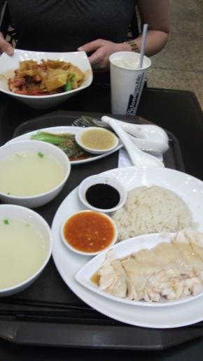 Hainanese Chicken Rice, hawker style, Singapore 2011